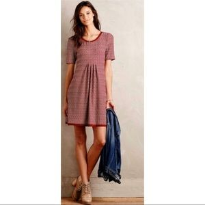 MAEVE Red Knit Short Sleeve 'Dora' Dress